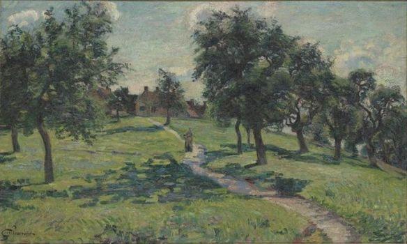 Paysage en Normandie Les pommiers, 1887